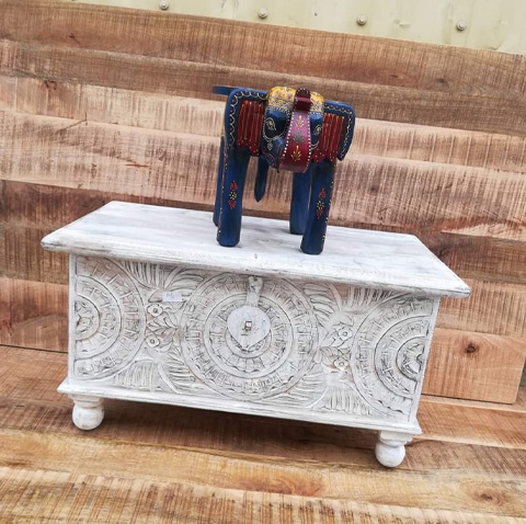 Wooden Elephant Table Or Stool