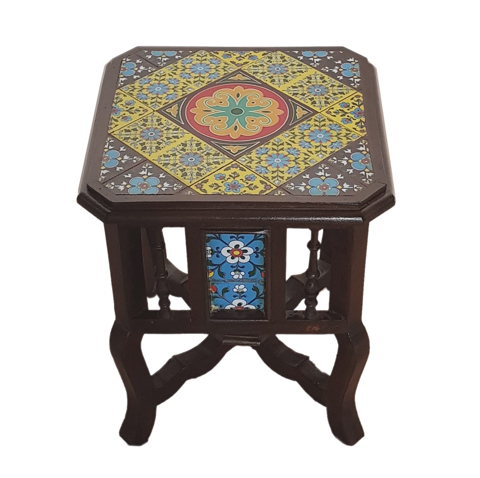 Tile Fitted Square Single Stool