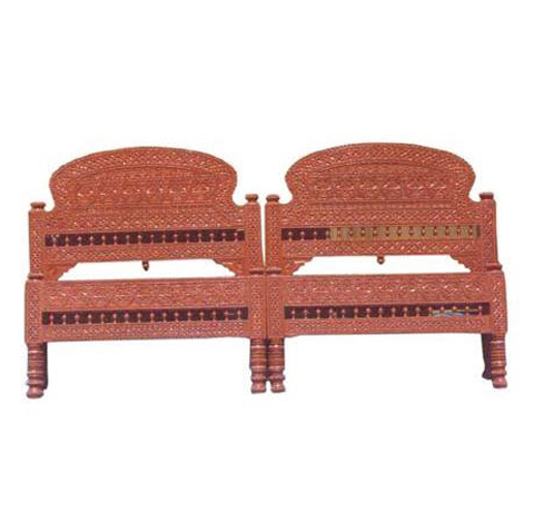 Carved Wooden Head Board For Double Bed