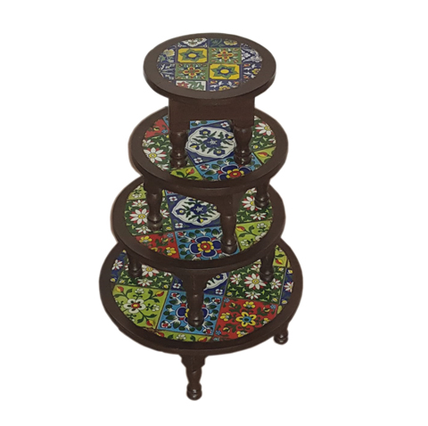 Tile Fitted Furniture Stool(Set Of 3)