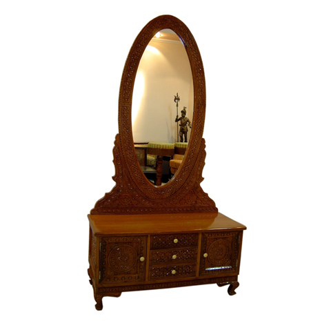 Dressing Table With Mirror Teak Wood/ Dressers