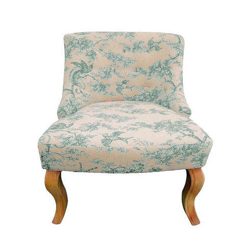 Classic Slipper Cushion Chair Without Arms