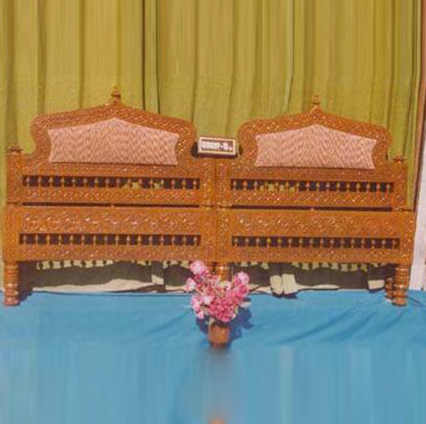 Traditional Carved Head Board For Double Bed