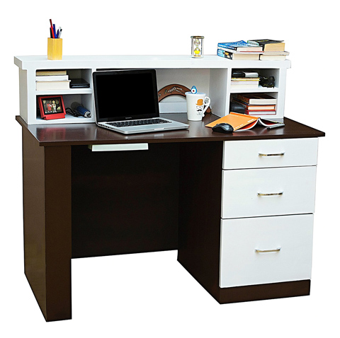 Study Table With Frosty White Drawer