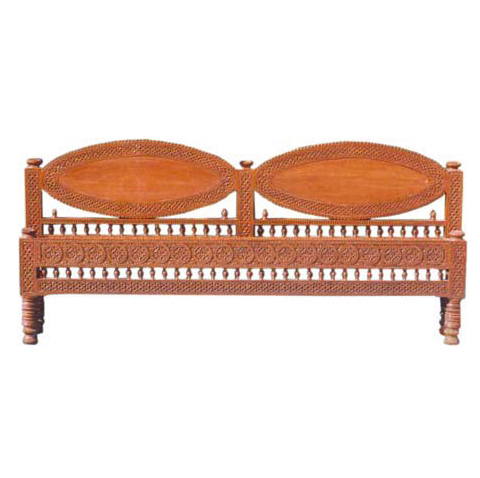 Antique Carved Head Board For Double Bed
