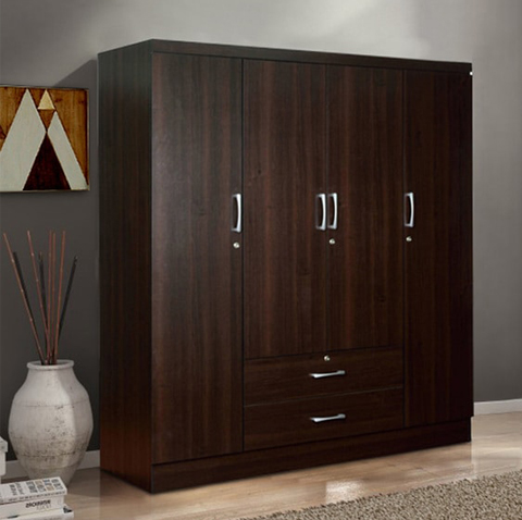 Modern Wooden Wardrobe With Drawers