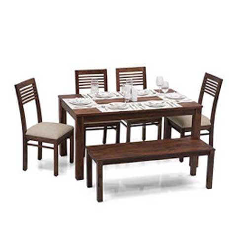 Adolph 6 Seater Dining Set With Bench