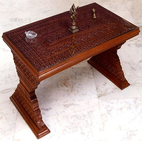 Wooden Carving Center Table