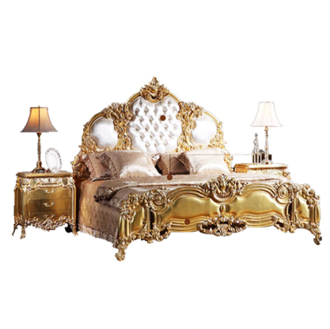 Luxury Wooden Carving Bed