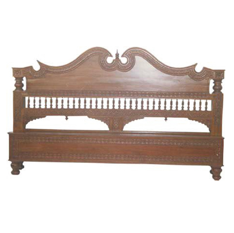 Antique Carved Bed Head