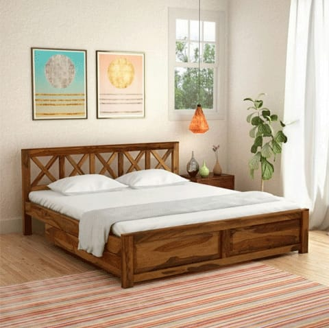 ASHOKA Queen/King bed without storage